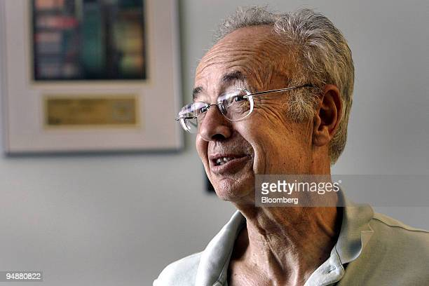 Andrew 'Andy' Grove cofounder and senior adviser to Intel Corp speaks during an interview in his office in Los Altos California US on Tuesday July 8...