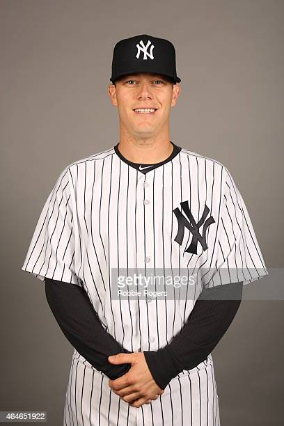 Andrew Bailey of the New York Yankees poses during Photo Day on Friday February 27 2015 at George M Steinbrenner Field in Tampa Florida