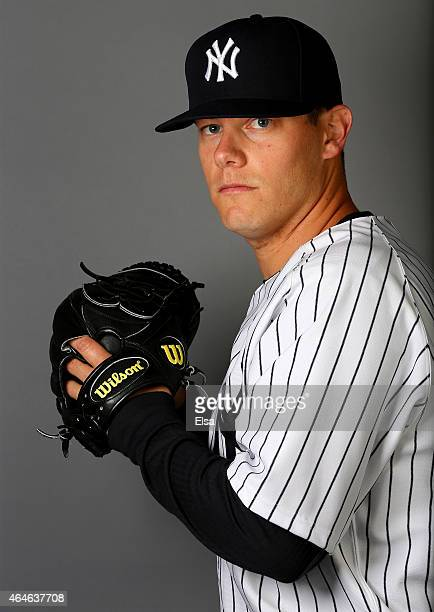 Andrew Bailey of the New York Yankees poses for a portrait on February 27 2015 at George M Steinbrenner Stadium in TampaFlorida