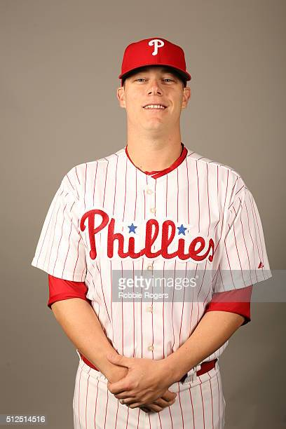 Andrew Bailey of the Philadelphia Phillies poses during Photo Day on Friday February 26 2016 at Bright House Field in Clearwater Florida
