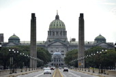 Andrew BEATTY A picture made October 14 2011 shows the Capitol Building in Pennsylvania's capital Harrisburg Pennsylvania's state capital has filed...