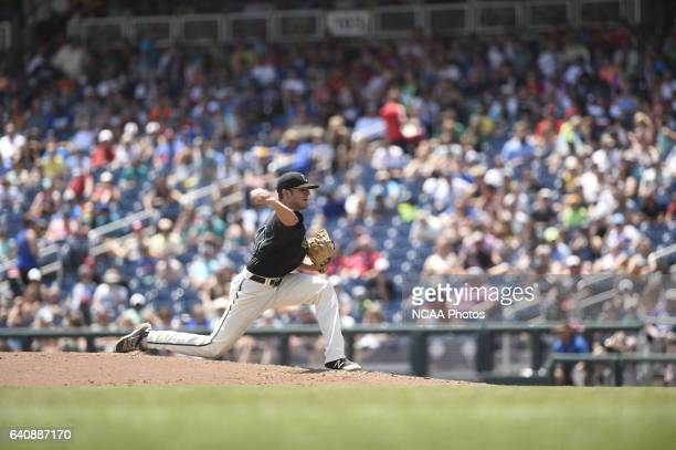 Andrew Beckwith of Coastal Carolina University delivers a pitch against the University of Arizona during Game 3 of the Division I Men's Baseball...