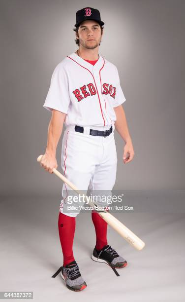 Andrew Benintendi of the Boston Red Sox poses for a portrait during photo day on February 19 2017 at Fenway South in Fort Myers Florida