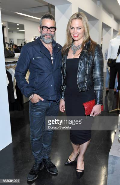 Andrew Bernstein and Jenny Chase attend DIOR SS17 Collection Launch at Maxfield on April 5 2017 in Los Angeles California