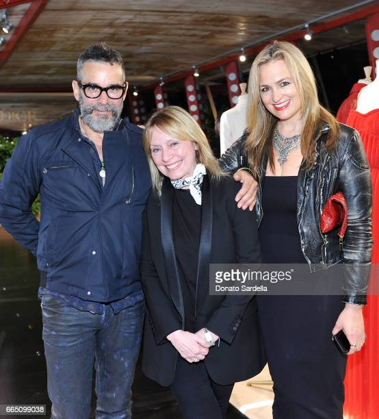 Andrew Bernstein Sarah Stewart and Jenny Chase attend DIOR SS17 Collection Launch at Maxfield on April 5 2017 in Los Angeles California