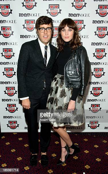 Andrew Bevan and Alexa Chung attend the 8th Annual Teen Vogue University on October 19 2013 in New York City