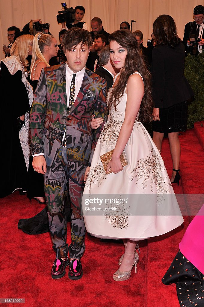 Andrew Bevan and Hailee Steinfeld attend the Costume Institute Gala for the 'PUNK: Chaos to Couture' exhibition at the Metropolitan Museum of Art on May 6, 2013 in New York City.