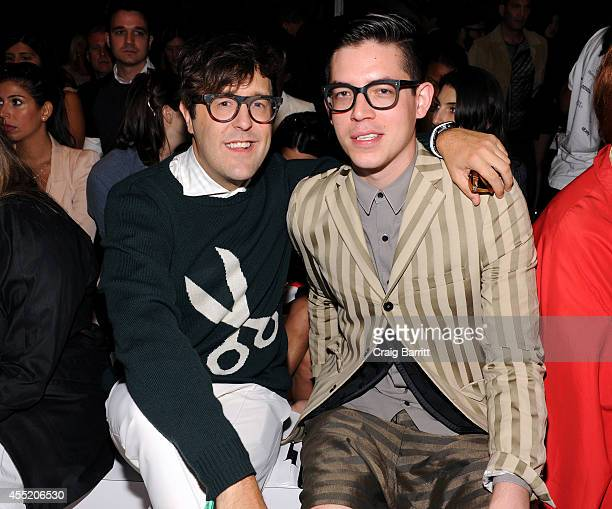 Andrew Bevan and Maxwell Losgar attend the Erin Fetherston fashion show during MercedesBenz Fashion Week Spring 2015 at The Salon at Lincoln Center...