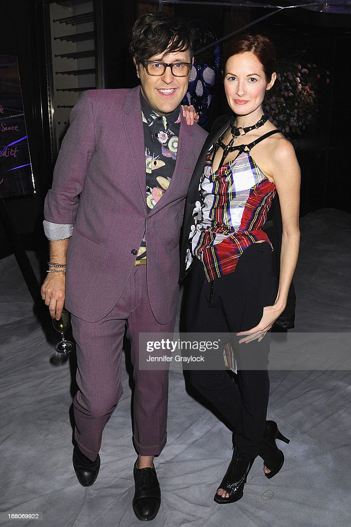 Andrew Bevan and Taylor Tomasi Hill attend Moda Operandi and St. Regis Hotels & Resorts event 'A Midnight Supper' to celebrate the launch of the exclusive Punk Collection on preview at The St Regis New York on May 4, 2013 in New York City.