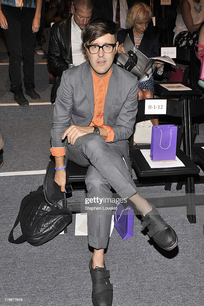 Andrew Bevan attends the Noon By Noor Spring 2014 fashion show during Mercedes-Benz Fashion Week at The Studio at Lincoln Center on September 6, 2013 in New York City.