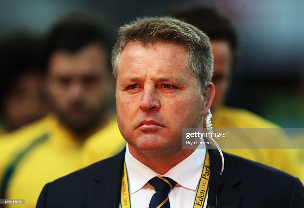 Andrew Blades of Australia looks on prior to the Autumn International match between France and Australia at Stade de France on November 10, 2012 in Paris, France.