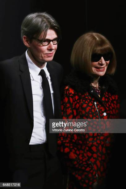 Andrew Bolton and Anna Wintour attend the 'Rei Kawakubo Comme Des Garcons Art Of The InBetween' Presentation as part of the Paris Fashion Week...