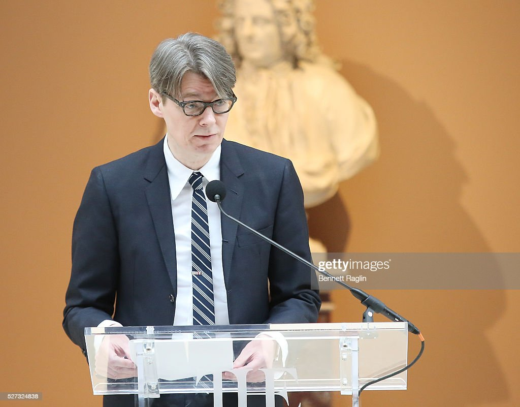 Andrew Bolton, Head Curator of the MET Costume Institute attends the 'Manus x Machina: Fashion In An Age Of Technology' - Press Preview at Metropolitan Museum of Art on May 2, 2016 in New York City.
