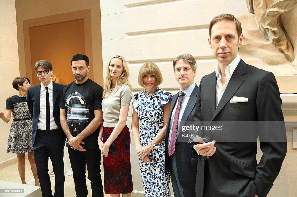 Andrew Bolton, Lauren Santo Domingo, Anna Wintour and Thomas P. Campbell attend the'PUNK: Chaos to Couture' Costume Institute Exhibition Press Preview at the Metropolitan Museum of Art on May 6, 2013 in New York City.