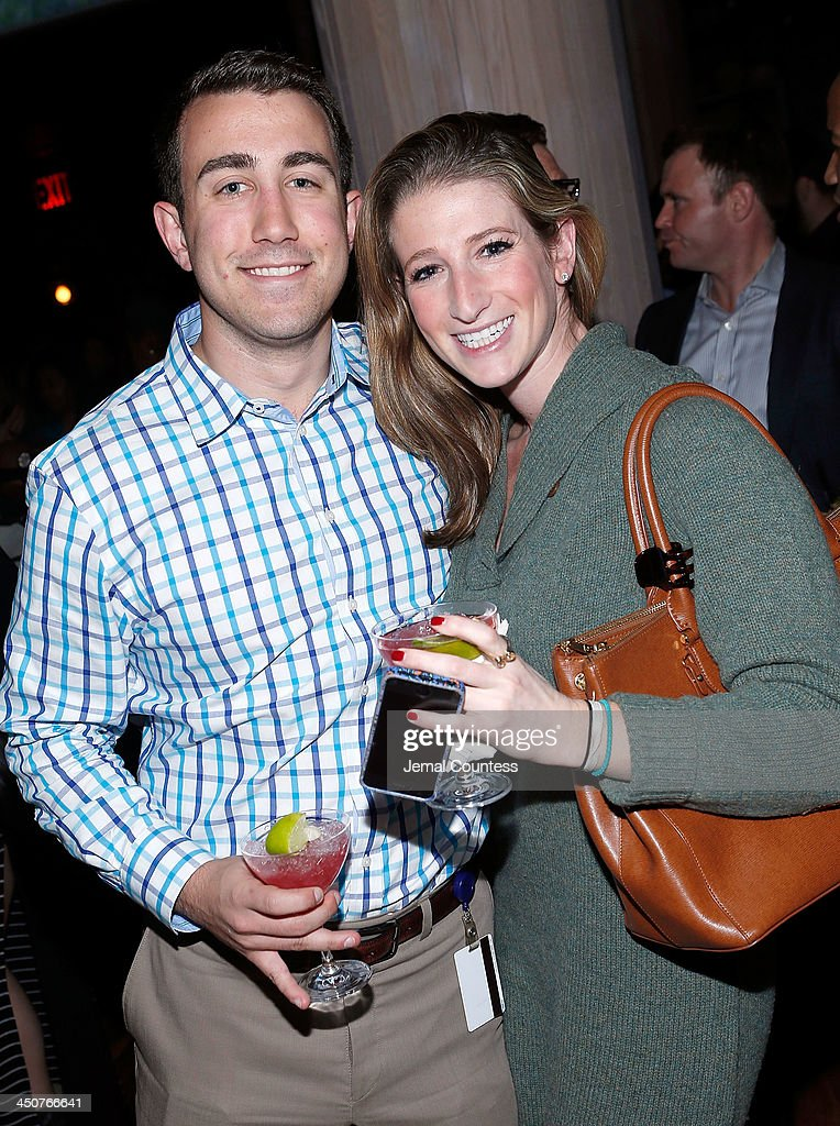 Andrew Bonnesen and Lauren Karp attend the Tequila Baron Launch Party at Butter Restaurant on November 19, 2013 in New York City.