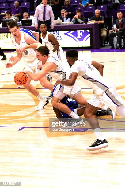 Andrew Brown guard Furman University Paladins leads a fast break against the UNC Asheville Bulldogs Tuesday December 5 at Timmons Arena in Greenville...