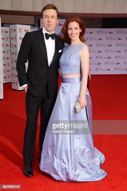 Andrew Buchan and Amy Nuttal attend the Virgin TV BAFTA Television Awards at The Royal Festival Hall on May 14 2017 in London England