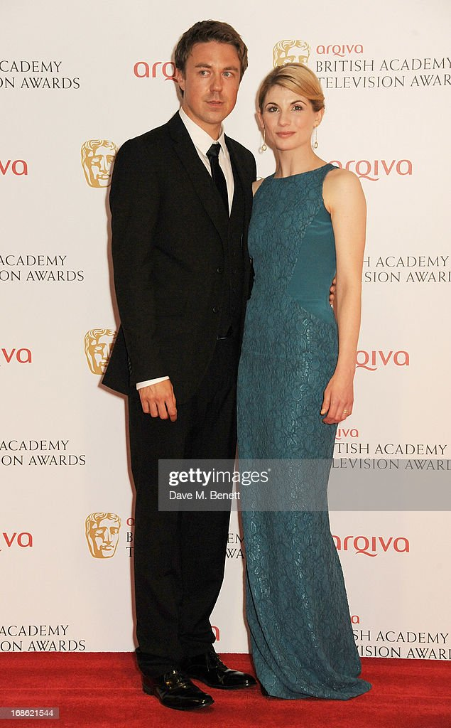 Andrew Buchan (L) and Jodie Whittaker pose in the press room at the Arqiva British Academy Television Awards 2013 at the Royal Festival Hall on May 12, 2013 in London, England.