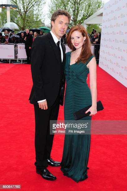 Andrew Buchan and wife Amy Nuttall arriving for the 2013 Arqiva British Academy Television Awards at the Royal Festival Hall London