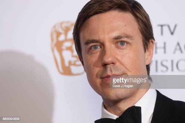 Andrew Buchan poses in the Winner's room at the Virgin TV BAFTA Television Awards at The Royal Festival Hall on May 14 2017 in London England
