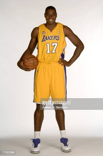 Andrew Bynum of the Los Angeles Lakers poses during media day at Toyota Training Center on October 1 2007 in El Segundo California NOTE TO USER User...