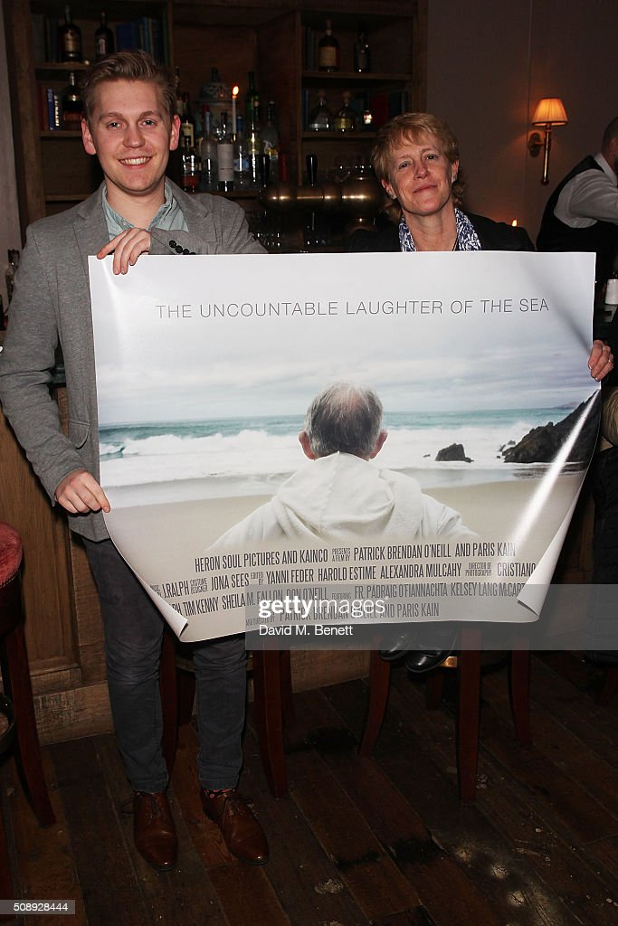 Andrew Casey and Sally Casey attend a special screening of 'The Uncountable Laughter of The Sea' at Soho House Dean Street on February 7, 2016 in London, England.