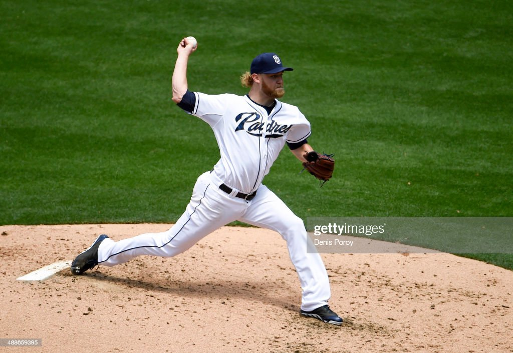 <a gi-track='captionPersonalityLinkClicked' href=/galleries/search?phrase=Andrew+Cashner&family=editorial&specificpeople=5742254 ng-click='$event.stopPropagation()'>Andrew Cashner</a> #34 of the San Diego Padres pitches during the fourth inning of a baseball game against the Kansas City Royals at Petco Park May 7, 2014 in San Diego, California.