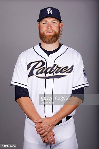 Andrew Cashner of the San Diego Padres poses during Photo Day on Monday March 2 2015 at Peoria Stadium in Peoria Arizona