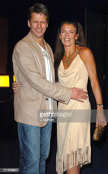 Andrew Castle and Annabel Croft during 'Hell's Kitchen II' Day 2 Arrivals at 146 Brick Lane in London Great Britain