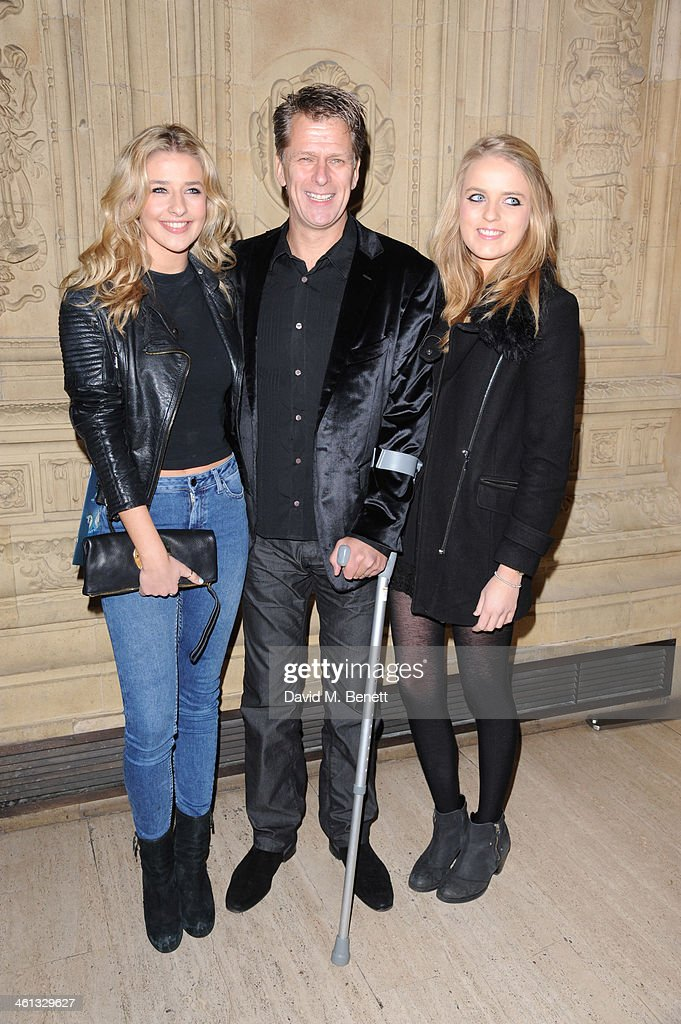 Andrew Castle and Daughters attends the VIP night for Cirque Du Soleil Quidam at Royal Albert Hall on January 7 2014 in London England