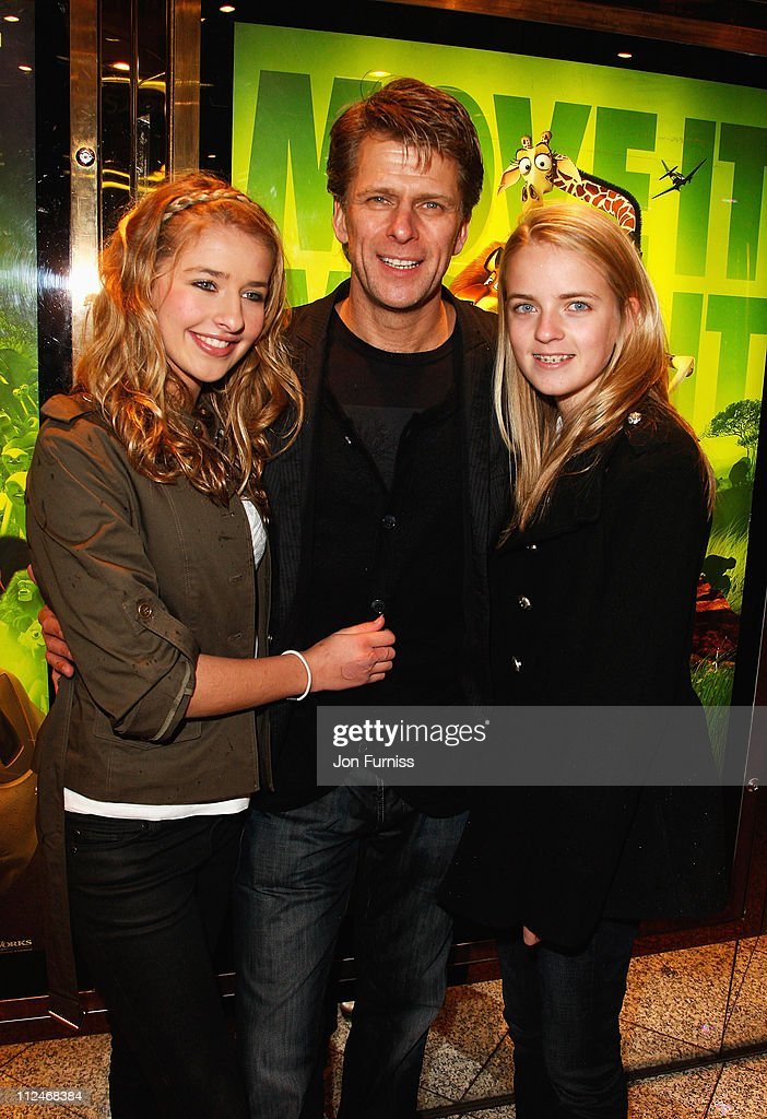 Andrew Castle and daughters Georgina and Claudia attend the UK Premiere of 'Madagascar Escape 2 Africa' at Empire Leicester Square on November 23...