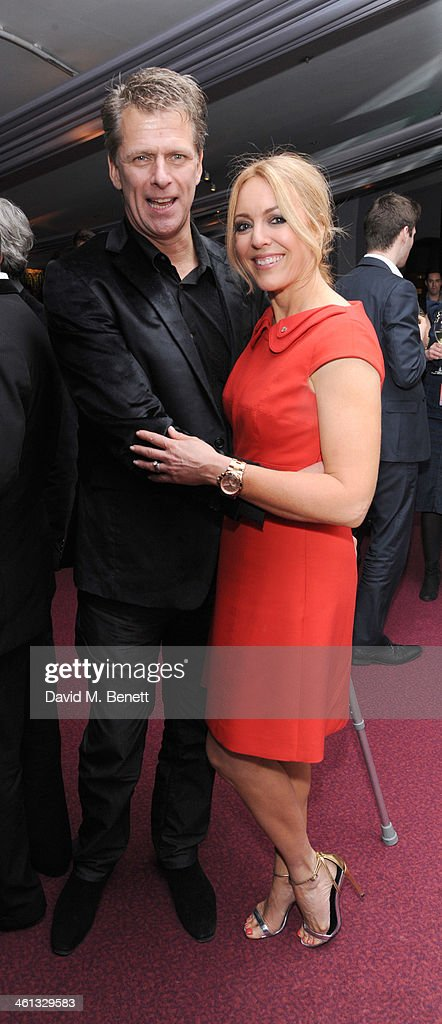 Andrew Castle and Helen Fospero attends the VIP night for Cirque Du Soleil Quidam at Royal Albert Hall on January 7 2014 in London England