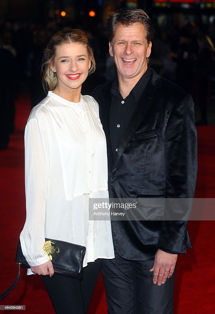 Andrew Castle and his daughter Georgina Castle attend the UK Premiere of 'Jack Ryan Shadow Recruit' at Vue Leicester Square on January 20 2014 in...