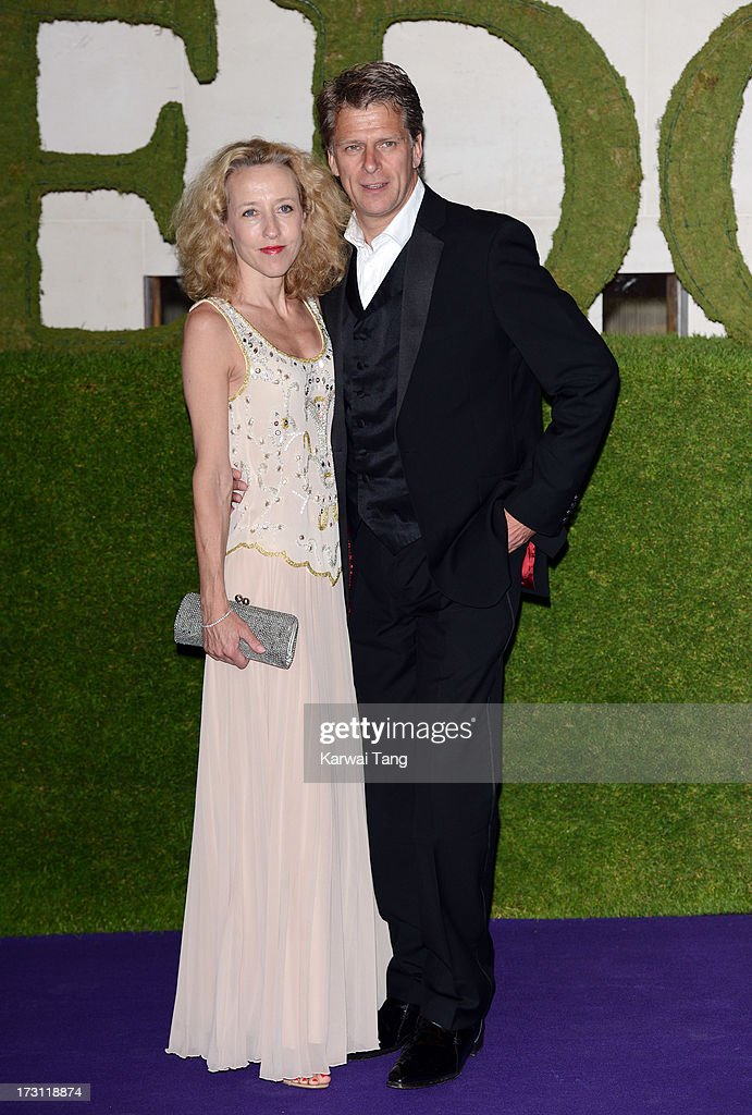 Andrew Castle and Sophia Castle arrives for the Wimbledon Champions Dinner held at the InterContinental Park Lane Hotel on July 7, 2013 in London, England.