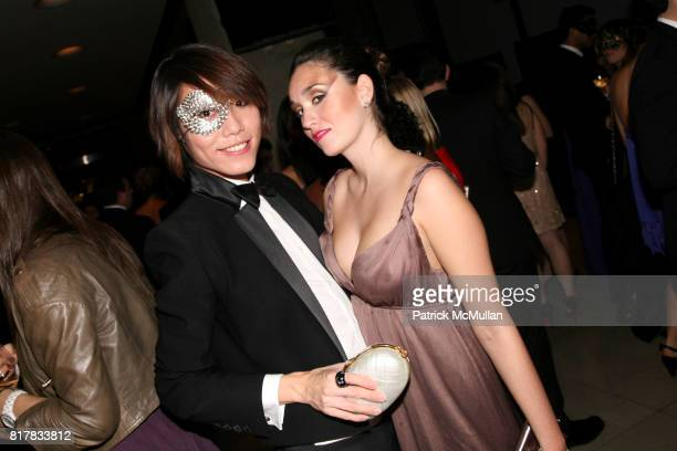 Andrew Chen and Savannah Kessel attend The Young Patrons of Lincoln Center Masquerade Gala at Alice Tully Hall on October 28 2010 in New York