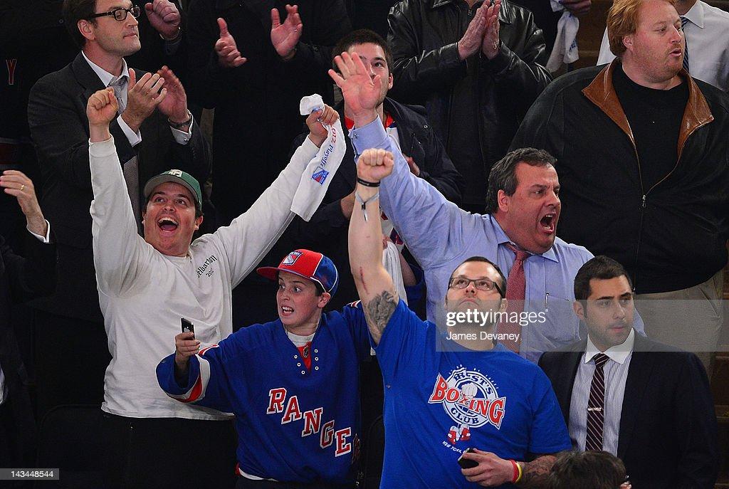 Celebrities Attend The Ottawa Senators Vs The New York Rangers Playoff Game