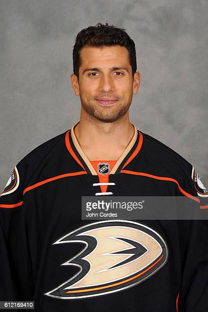 Andrew Cogliano of the Anaheim Ducks poses for his official headshot for the 20162017 season on September 22 2016 at Honda Center in Anaheim...
