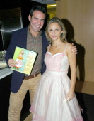 Andrew Cohen and Amy Sedaris during Bon Appetit and Warner Books Host a Party for Amy Sedaris' New Book 'I Like You' at Dining Room at 4 Times Sq 4th...