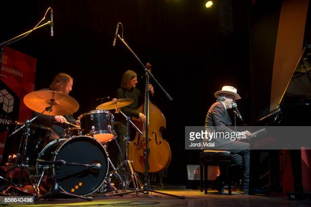 Andrew Colburn Thoger Lund and Howe Gelb perform on stage during Festival del Millenni at El Molino on March 22 2017 in Barcelona Spain