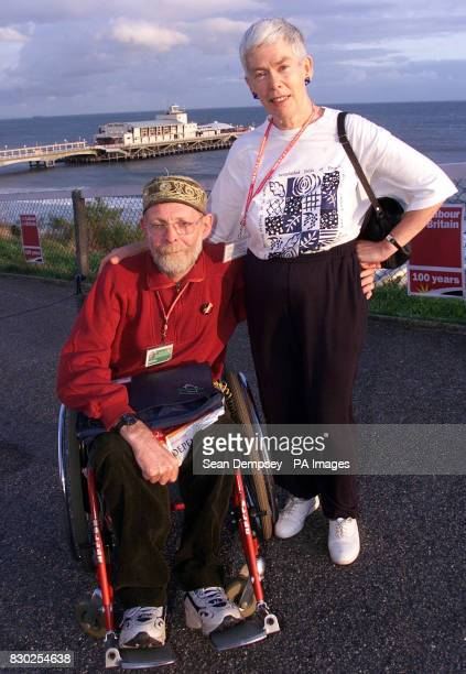 Andrew Coldwell and wife Di 66 from Huddersfield West Yorkshire outside the Labour Party Conference in Bournemouth after she addressed the conference...
