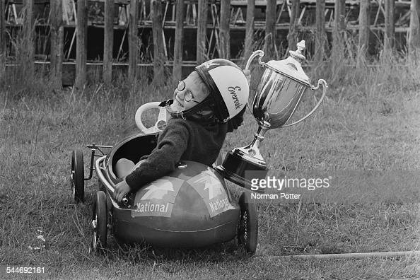 Andrew Combe winner of the Pedal Car Grand Prix at Crystal Palace London 4th June 1967