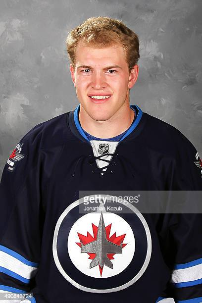 Andrew Copp of the Winnipeg Jets poses for his official headshot for the 20152016 season on September 17 2015 at the MTS Centre in Winnipeg Manitoba...