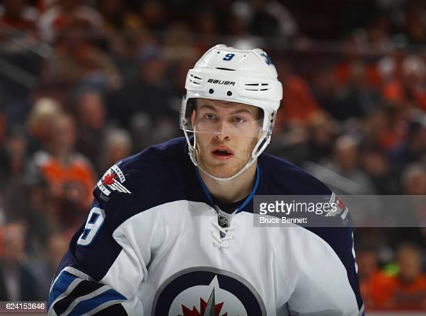 Andrew Copp of the Winnipeg Jets skates against the Philadelphia Flyers at the Wells Fargo Center on November 17 2016 in Philadelphia Pennsylvania...