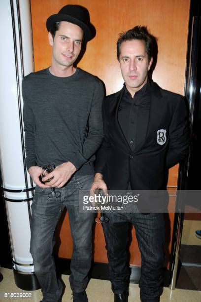 Andrew Cramer and James Gardner attend L'WREN SCOTT and MICK JAGGER Fashion Week Party at The Lambs Club in The Chatwal Hotel on September 16th 2010...