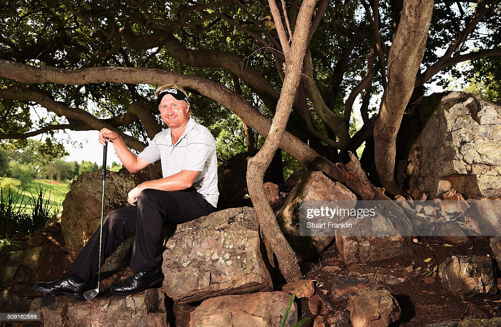Andrew Curlewis of South Africa poses for a picture prior to the start of the Tshwane Open at Pretoria Country Club on February 09, 2016 in Pretoria, South Africa.