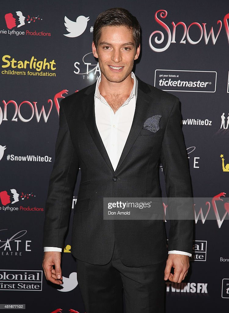 Andrew Cutcliffe attends the media call for Snow White Winter Family Musical at the State Theatre on July 4, 2014 in Sydney, Australia.
