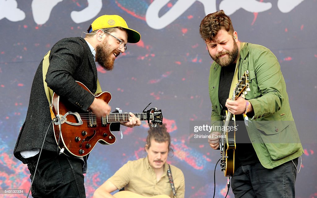 Andrew Davie of Bear's Den performs on The Other Stage at Glastonbury Festival 2016 at Worthy Farm, Pilton on June 25, 2016 in Glastonbury, England.