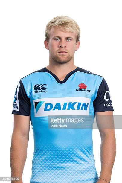 Andrew Deegan poses during the Waratahs 2016 Super Rugby headshots session at Allianz Stadium on January 14 2016 in Sydney Australia