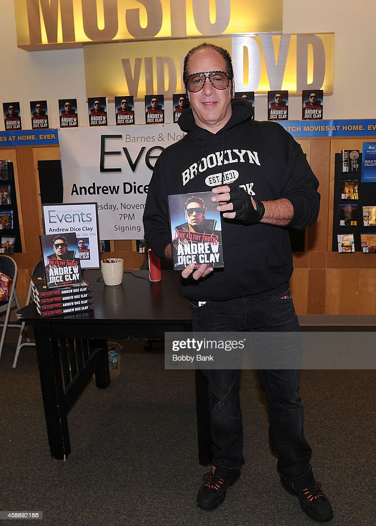 Andrew Dice Clay attends his book signing at Barnes & Noble Staten Island on November 12, 2014 in New York, New York.