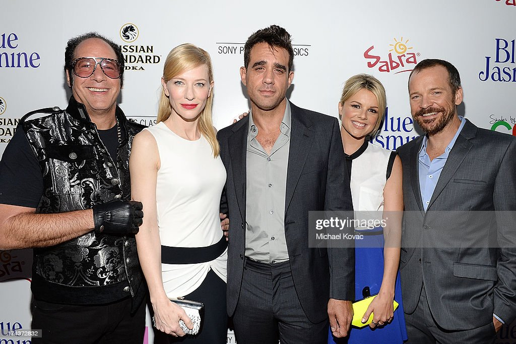 Andrew Dice Clay, Cate Blanchett, Bobby Cannavale, Ali Fedotowsky, and Peter Sarsgaard attend the premiere of 'Blue Jasmine' hosted by Sony Picture Classics and AFI on July 24, 2013 in Beverly Hills, California.